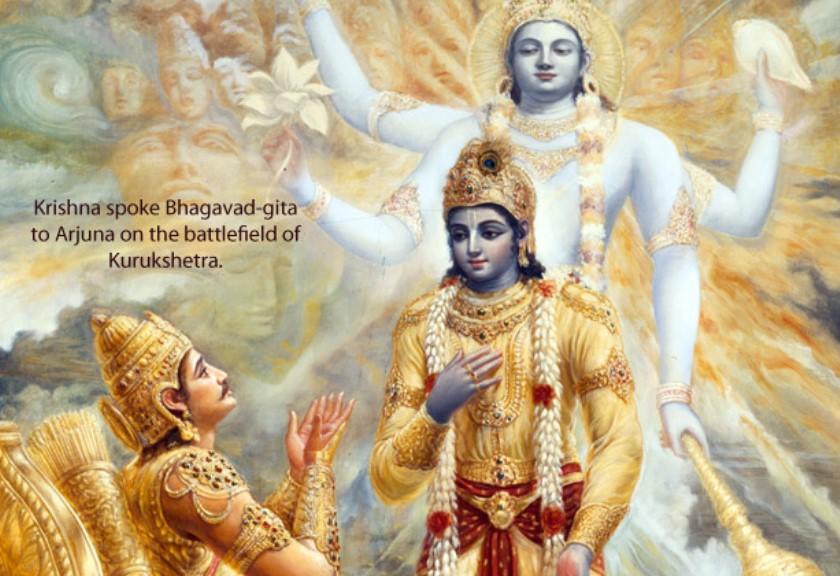 Glories of BG Pg Img Krishna speaking BG