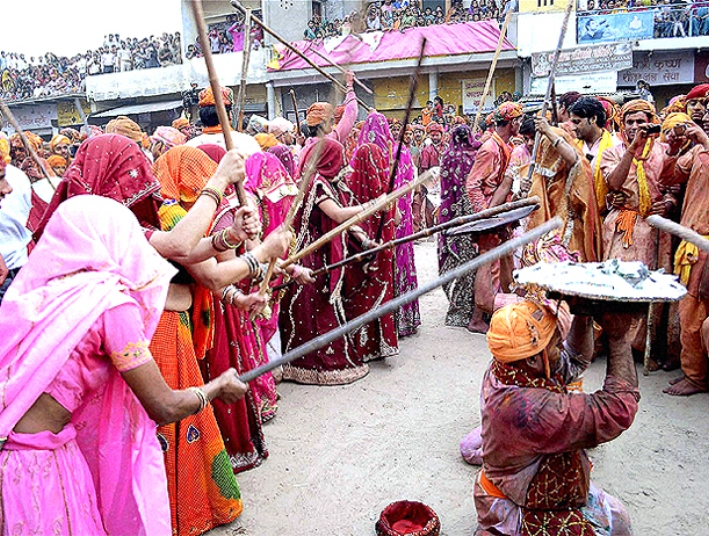 Holi in Barsana near Mathura