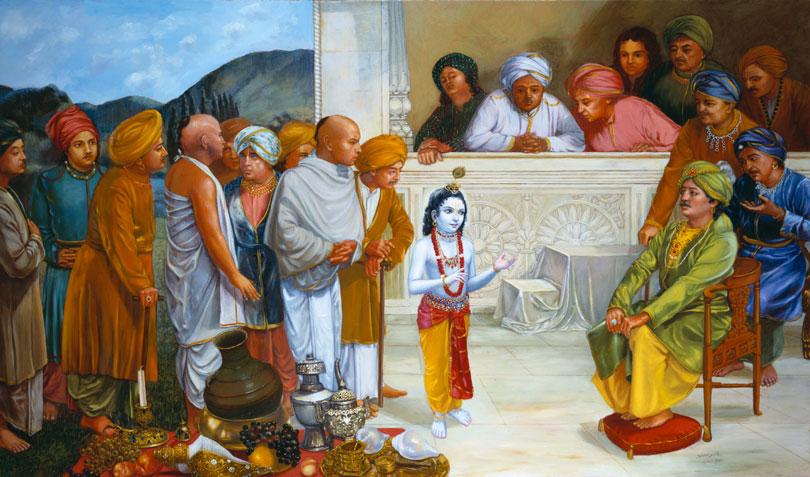 lord krishna establishes the importance of govardhana worship