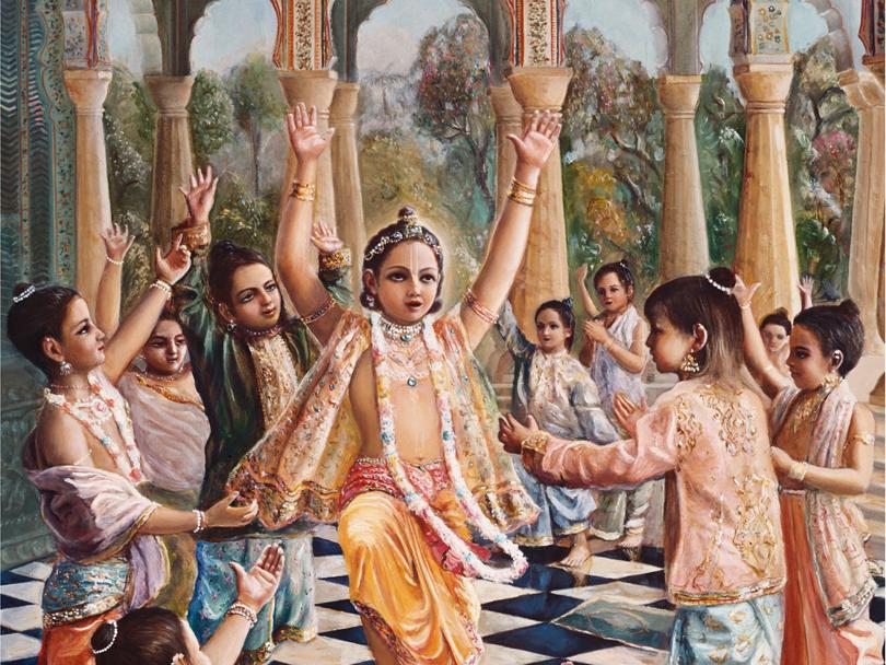 prahlada maharaja preaches to school mates