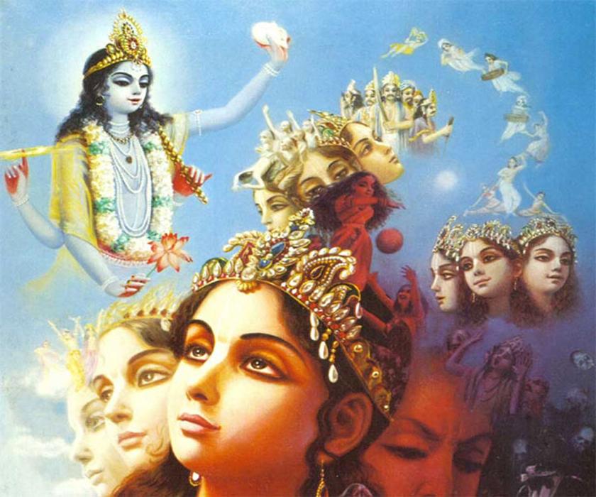Krishna directing the creation