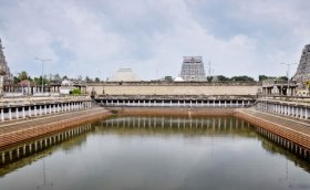 the-temple-gopurams-and-pond