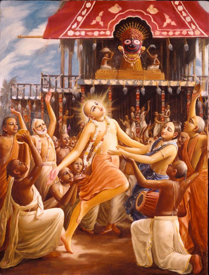 Chaitanya-Maha-Prabhu-doing-Sankirtana-during-Jagannatha-Ratha-Yatra