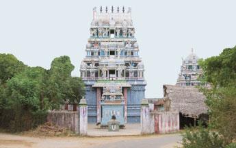 the rajagopuram of thevanr thongai tn