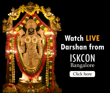 live darshana from iskcon bangalore
