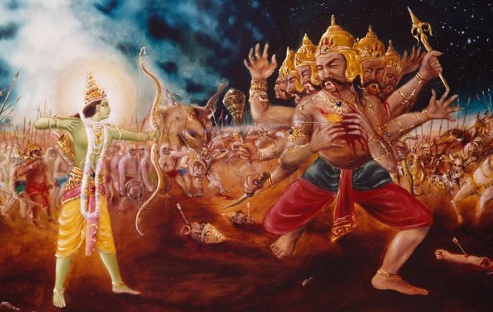 lord rama killed the ten headed ravana
