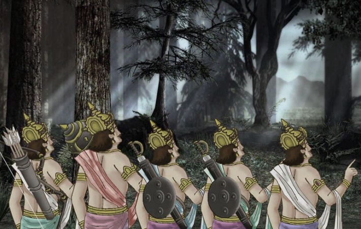 pandavas in exile