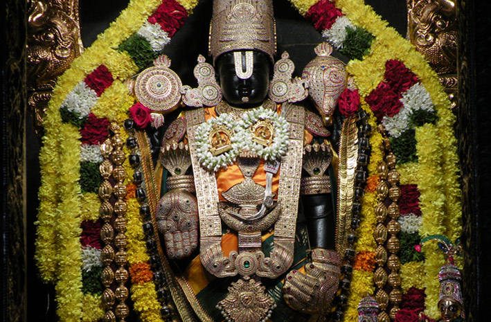 Offer seva to Lord Vishnu