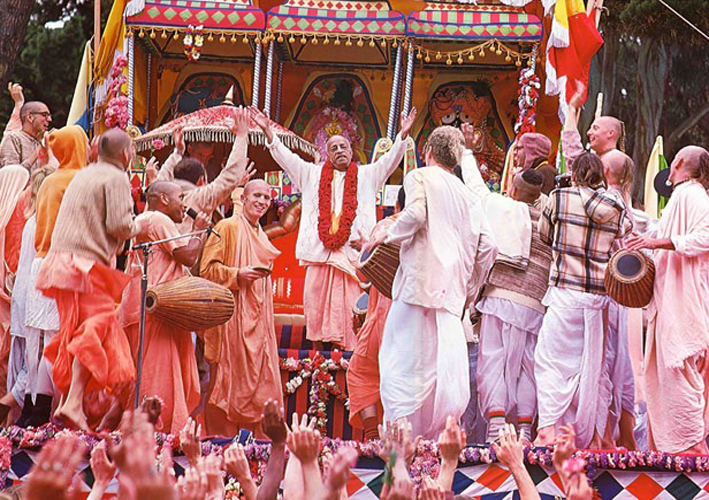 Srila Prabhupada in Ratha Yatra