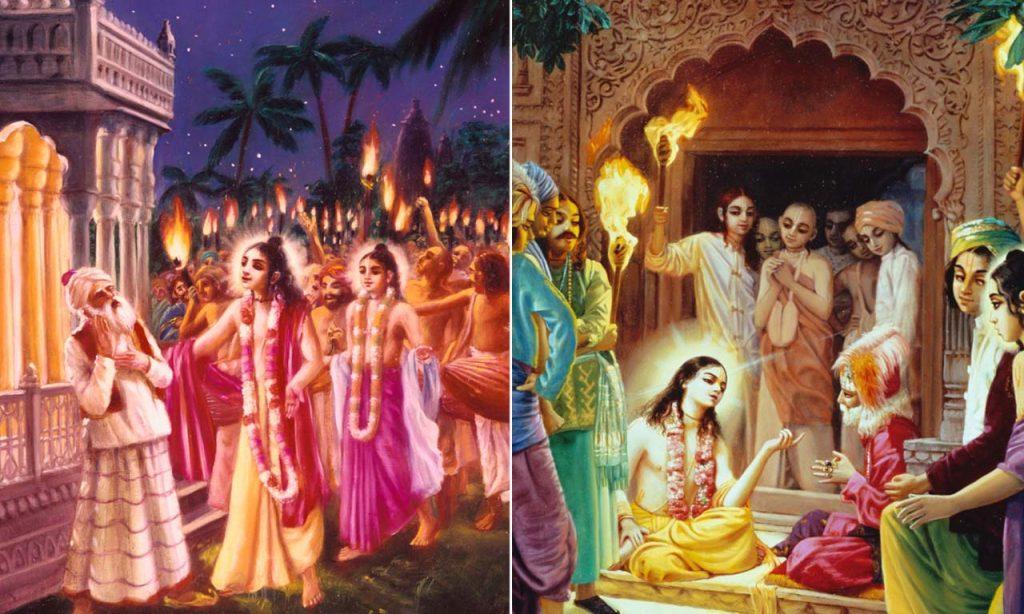Chaitanya-mahaprabhu-embraces-Rupa- Gosvami-and-Sanatana-Gosvami