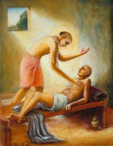 Lord Chaitanya with Srila Haridasa Thakura