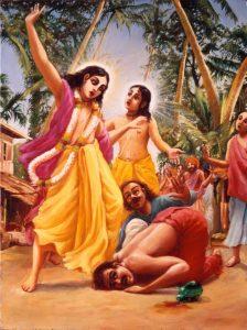 Lord Chaitanya delivers Jagai and Madhai