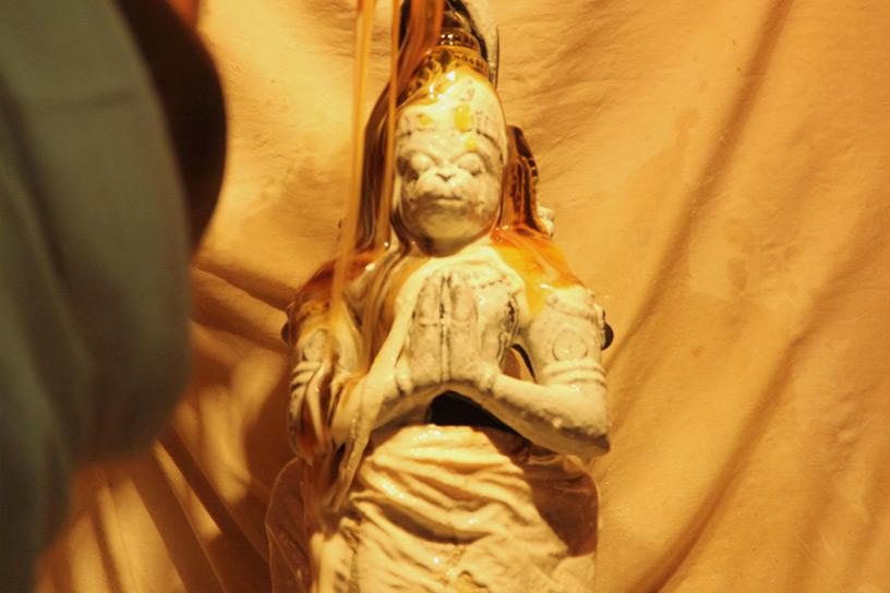Abhisheka to Sri Hanuman on Hanuman Jayanti