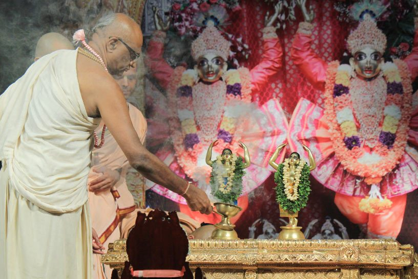 Worship of Sri Sri Nitai Gauranga