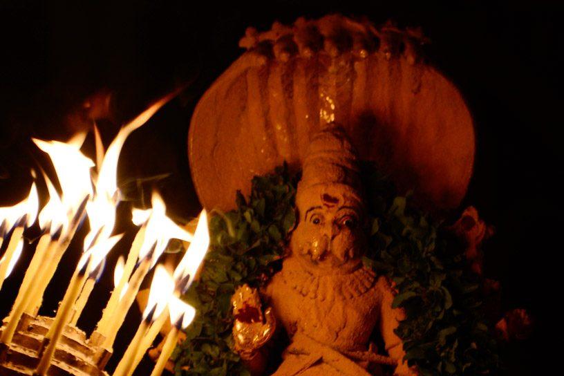 Arati to the Lord in Chandana Alankara