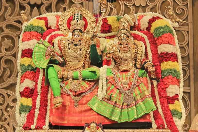 Sri Sri Radha Krishnachandra adorned in Sita-Rama Alankara