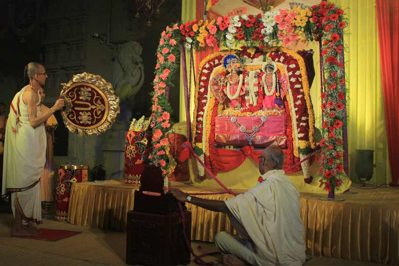 Worship of Sri Sri Radha Krishnachandra