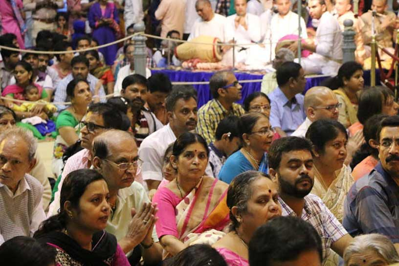 Devotees witnessing celebrations