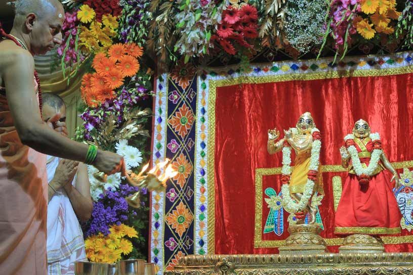 Offering Arati to Their Lordships