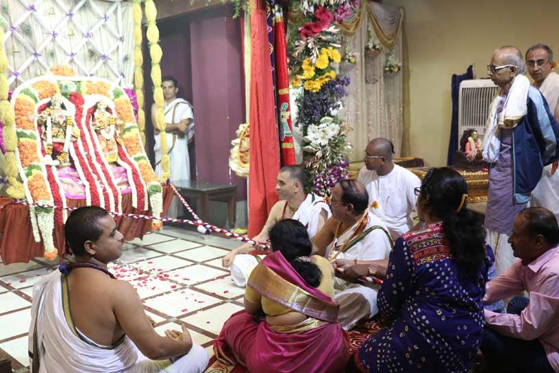 Sri Sri Radha Krishnachandra on Jhulan