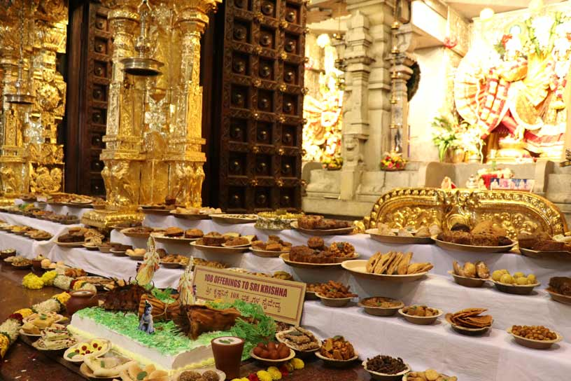 108 food offerings to Their Lordships
