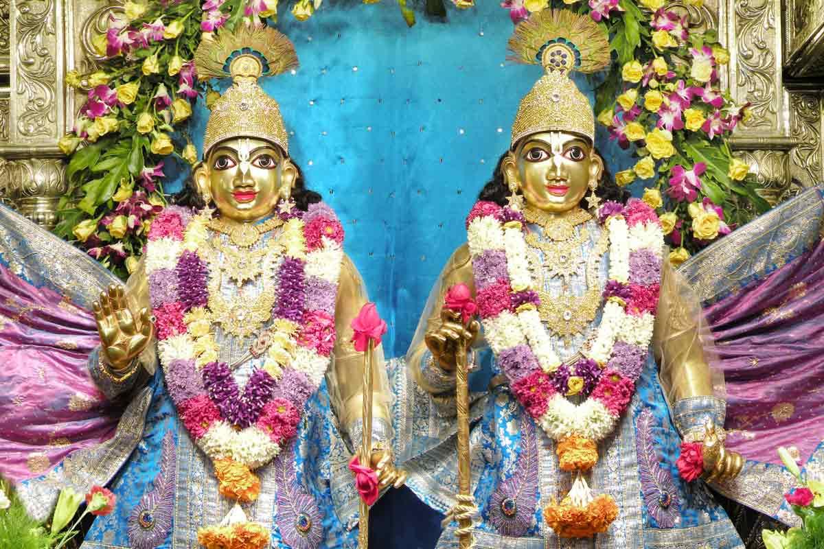 Sri Sri Krishna Balarama Iskcon Bangalore Deities