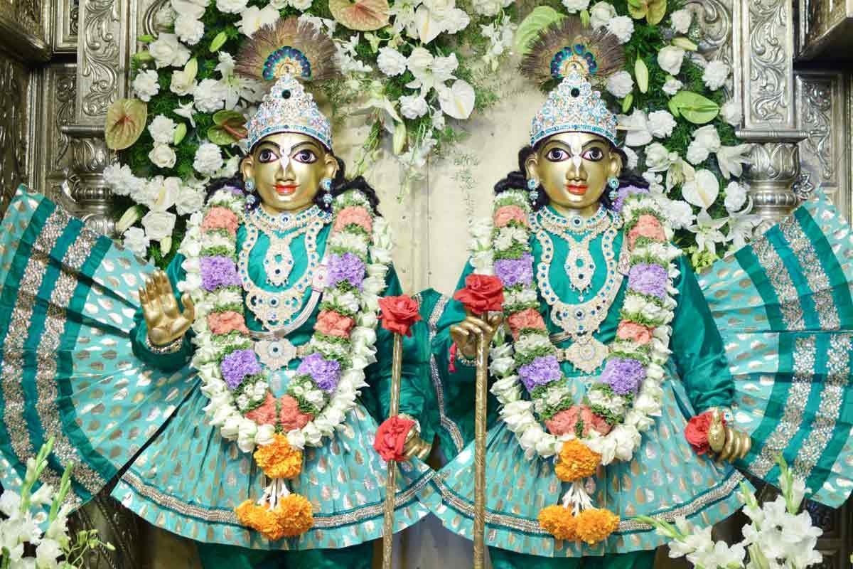 Sri Sri Krishna Balarama  in a special alankara