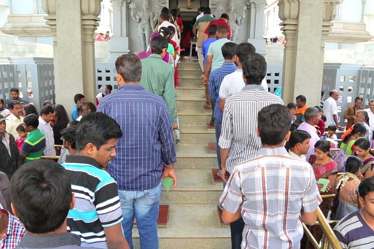 Devotees Chanting Harinama