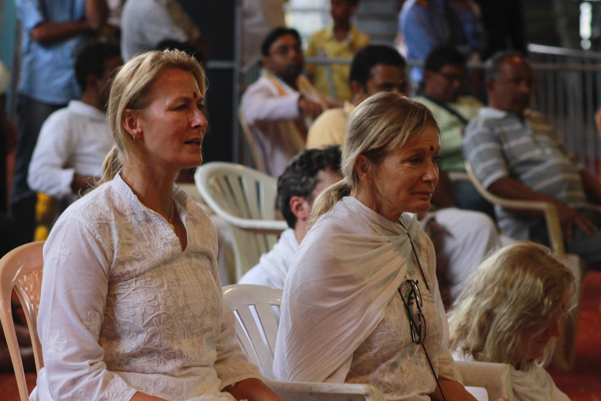 Foreign Devotees at the Harinam Festival