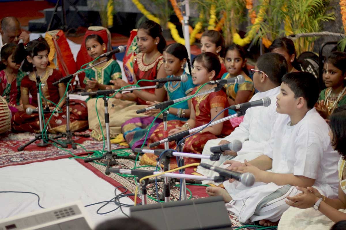 Children Singing Kirtan