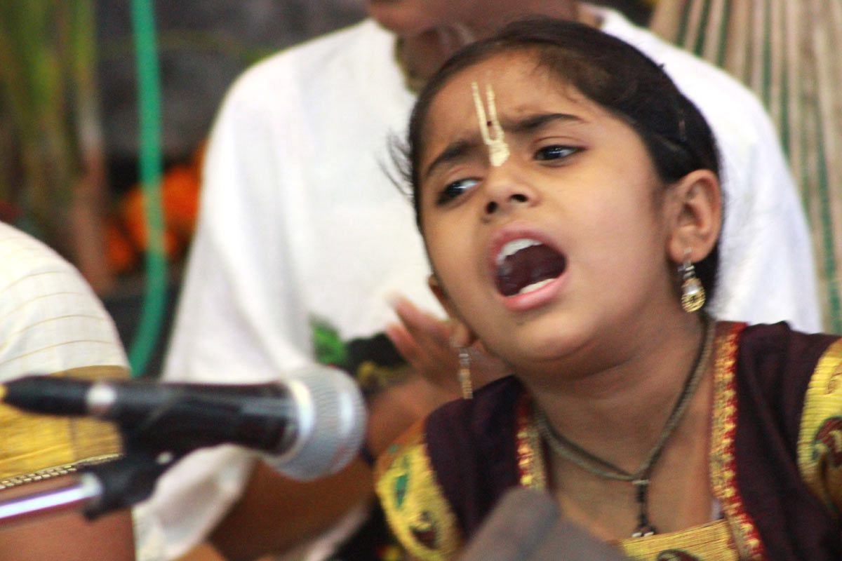 Child involved in singing