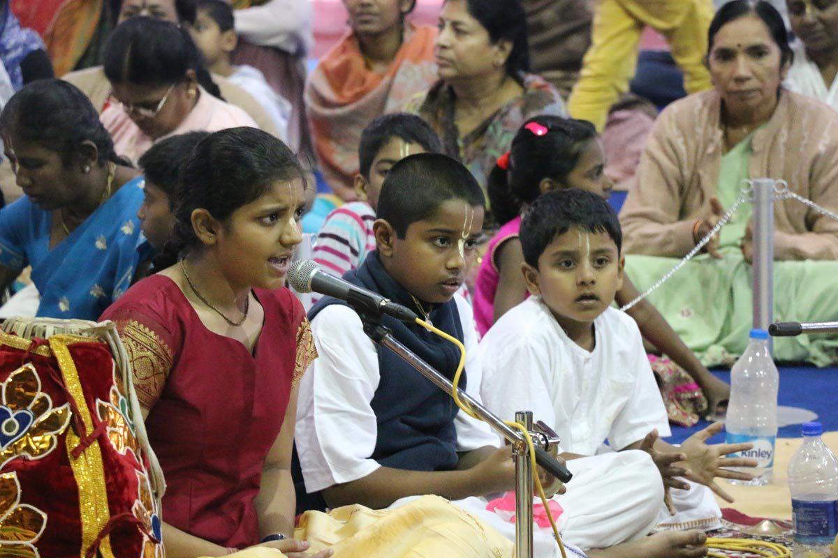 Children enjoying Harinam Festival