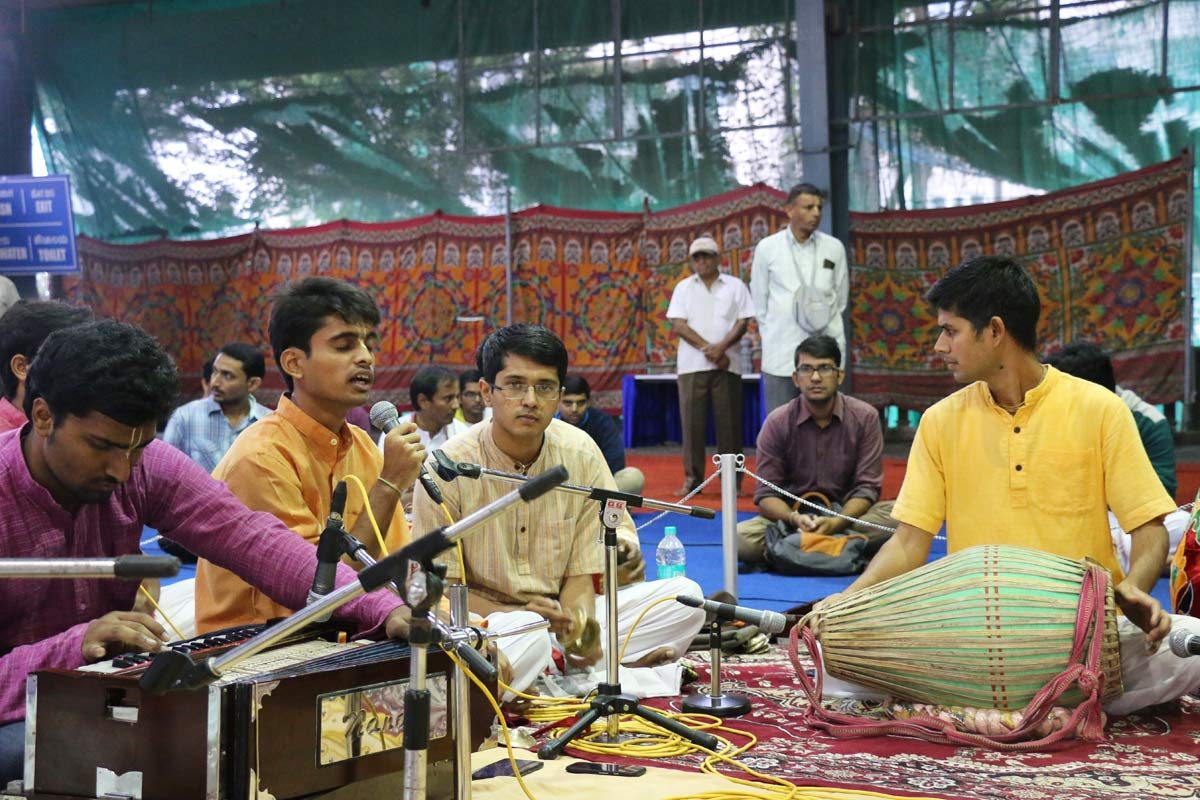 FOLK devotees singing Kirtan