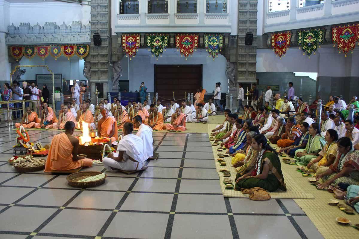Devotees attending Ceremony