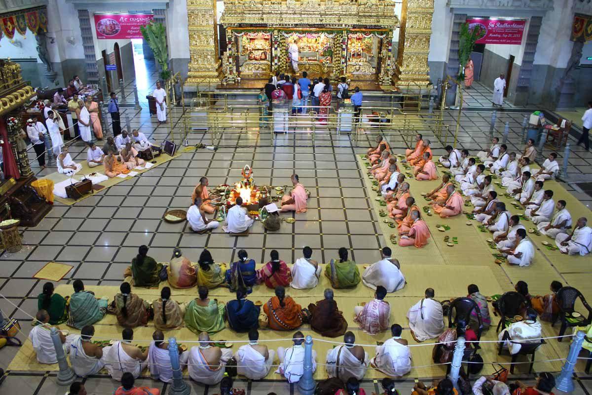 Harinam Diksha Ceremony at Main Temple Hall