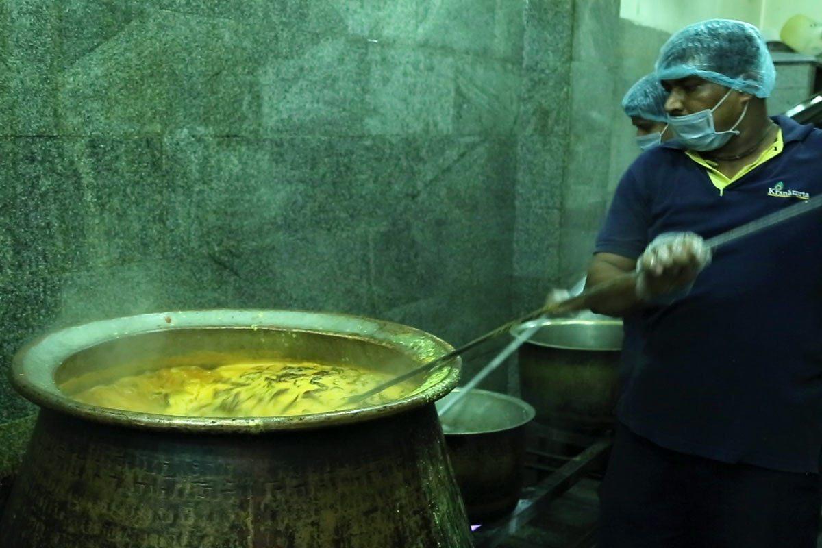 Krishnamrita Food being prepared