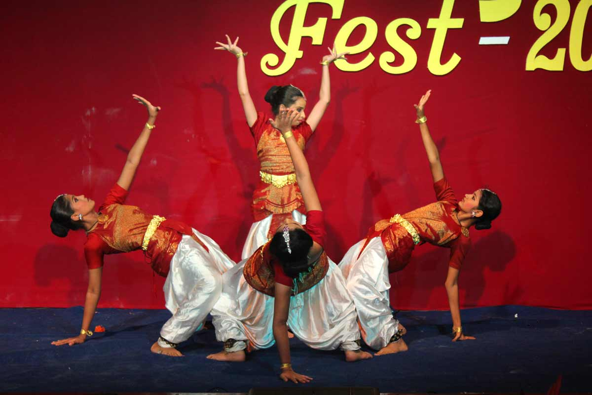 Children performing dance