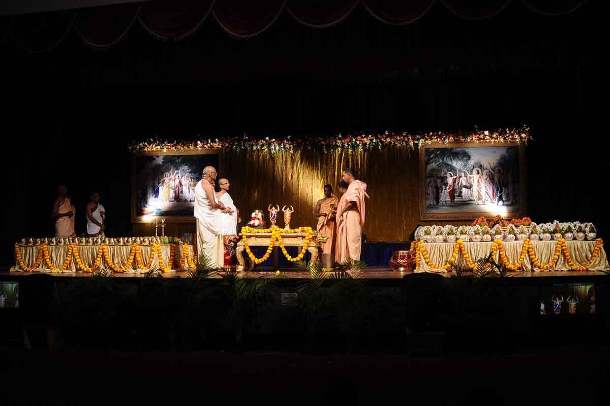 Swasti Vachana before Abhisheka