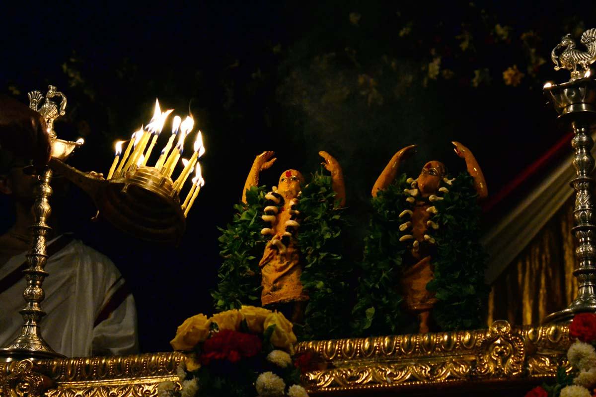 Special Arati during Abhisheka