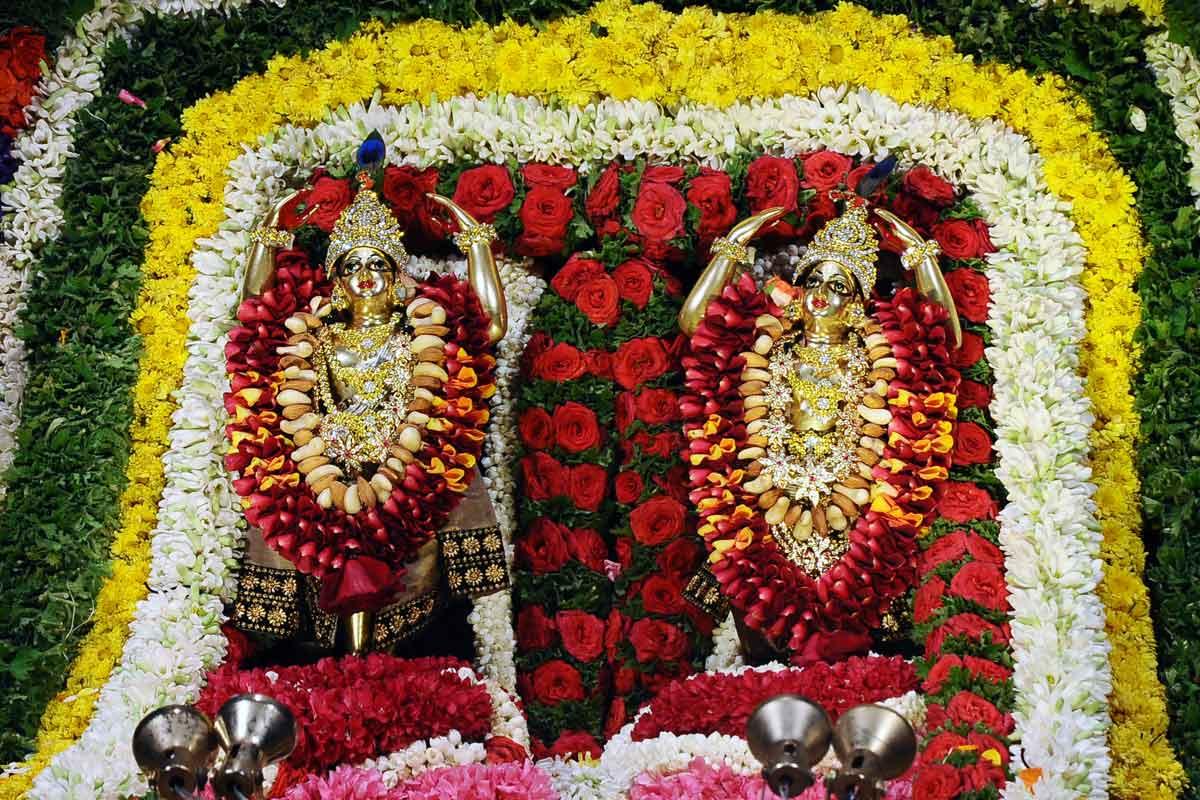 Visesha alankara for Utsava deities