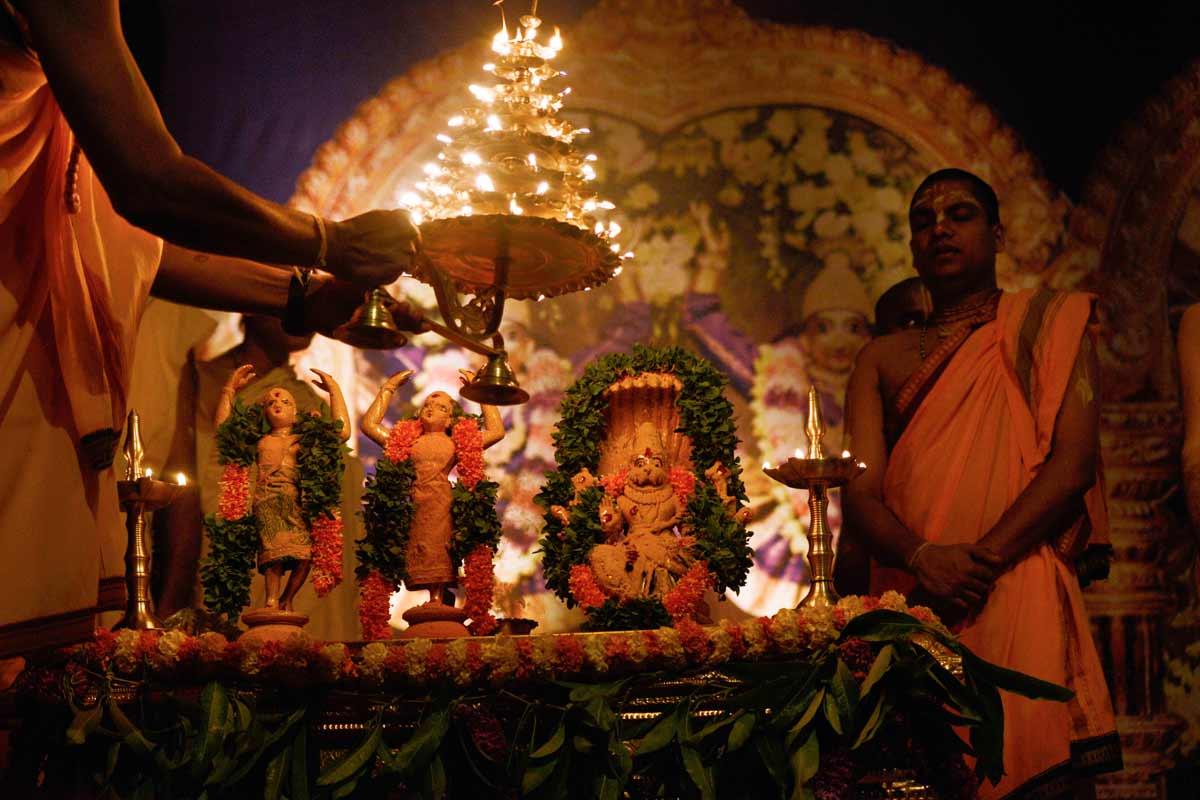 13.Arati during Churna abhisheka