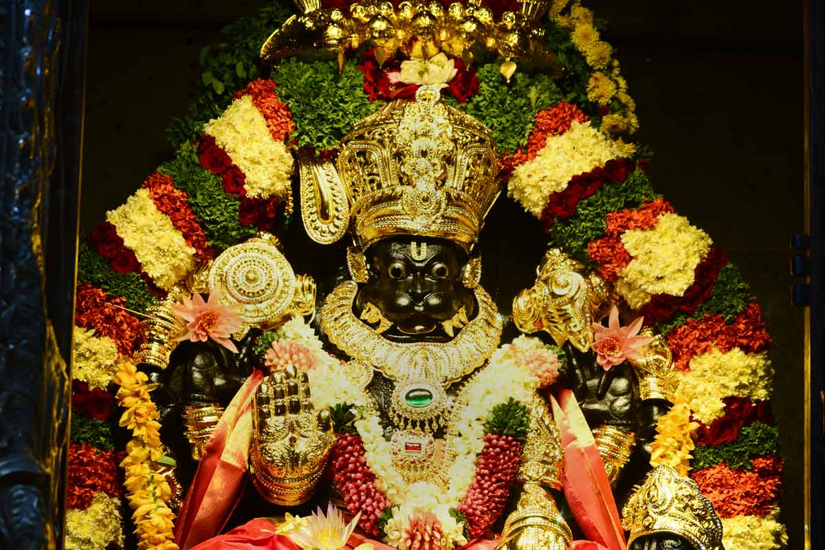 Lord Narasimha beautifully adorned on Narasimha Jayanti