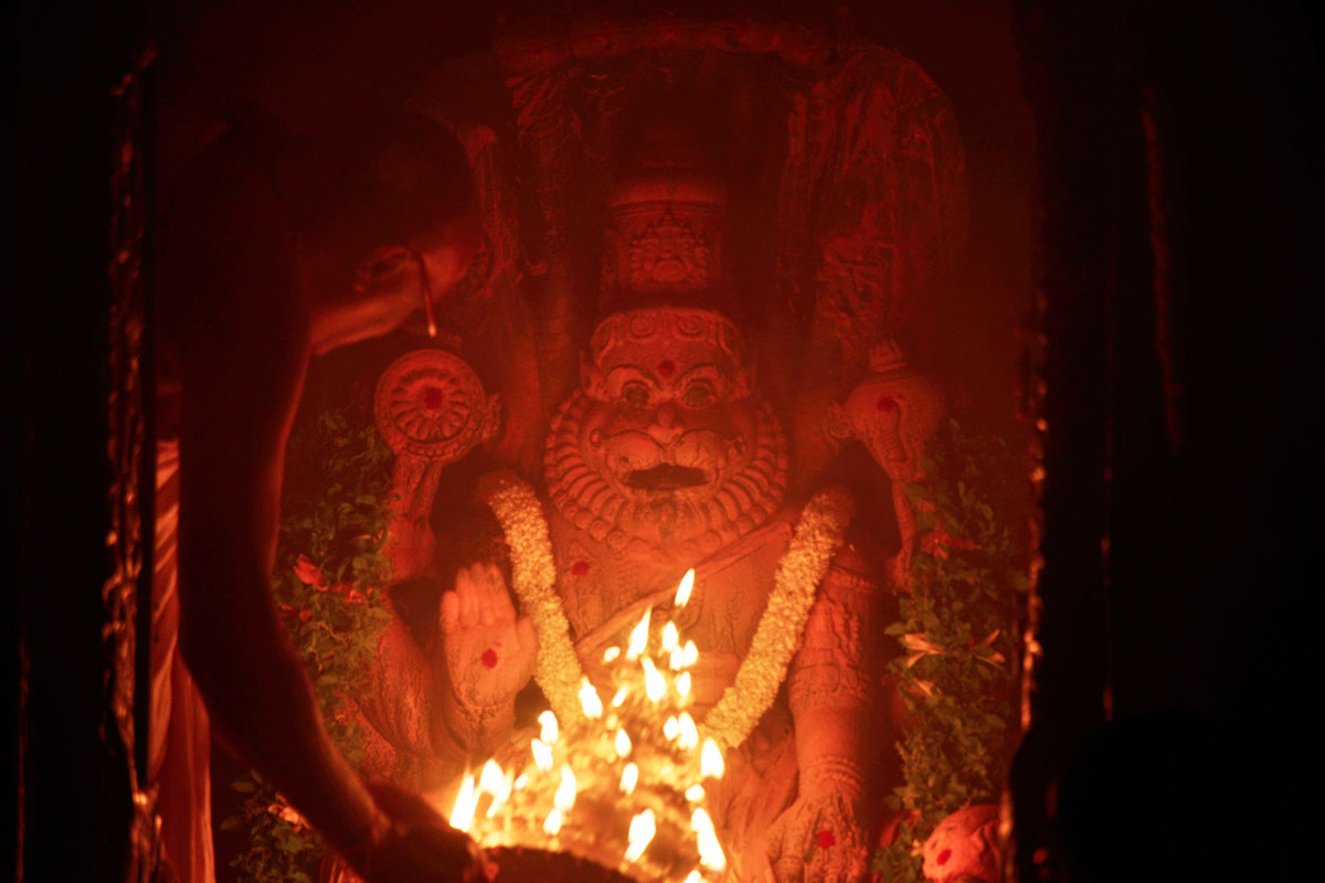 Arati to Lord Narasimha