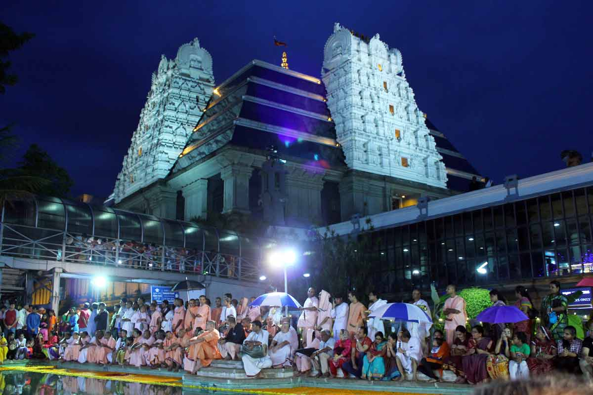 Devotees witnessing the celebrations