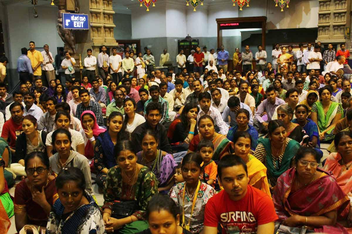 Devotees witnessing celebrations