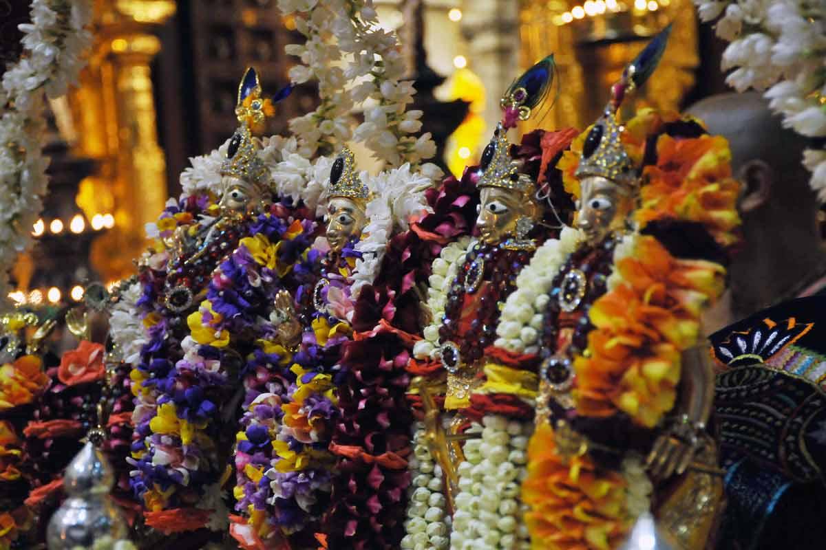 Utsava deities in Visesha Alankara