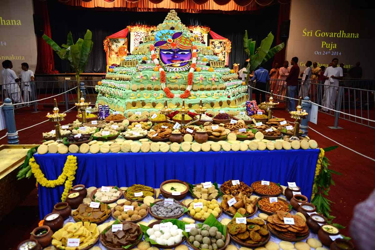 Special Offering to Giri Govardhana