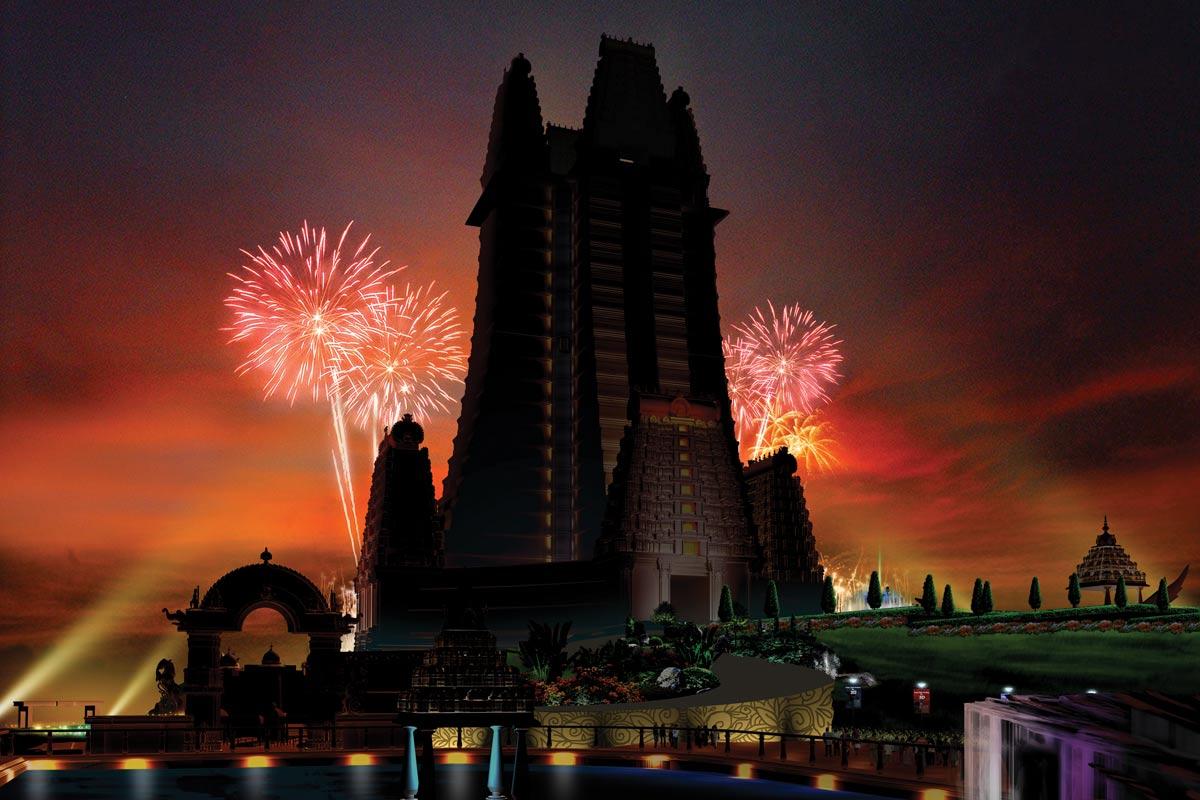 Krishna Lila theme park- Night view