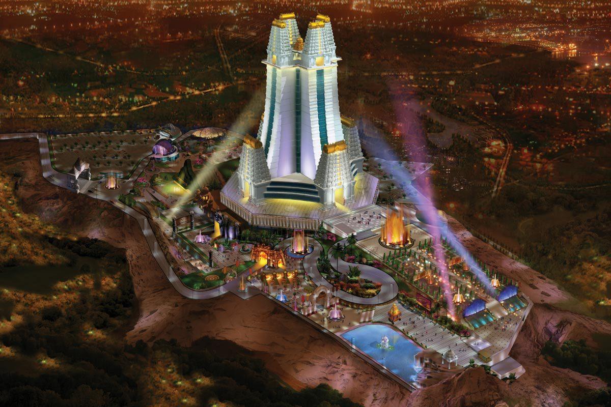 Krishna Lila theme park- Aerial view