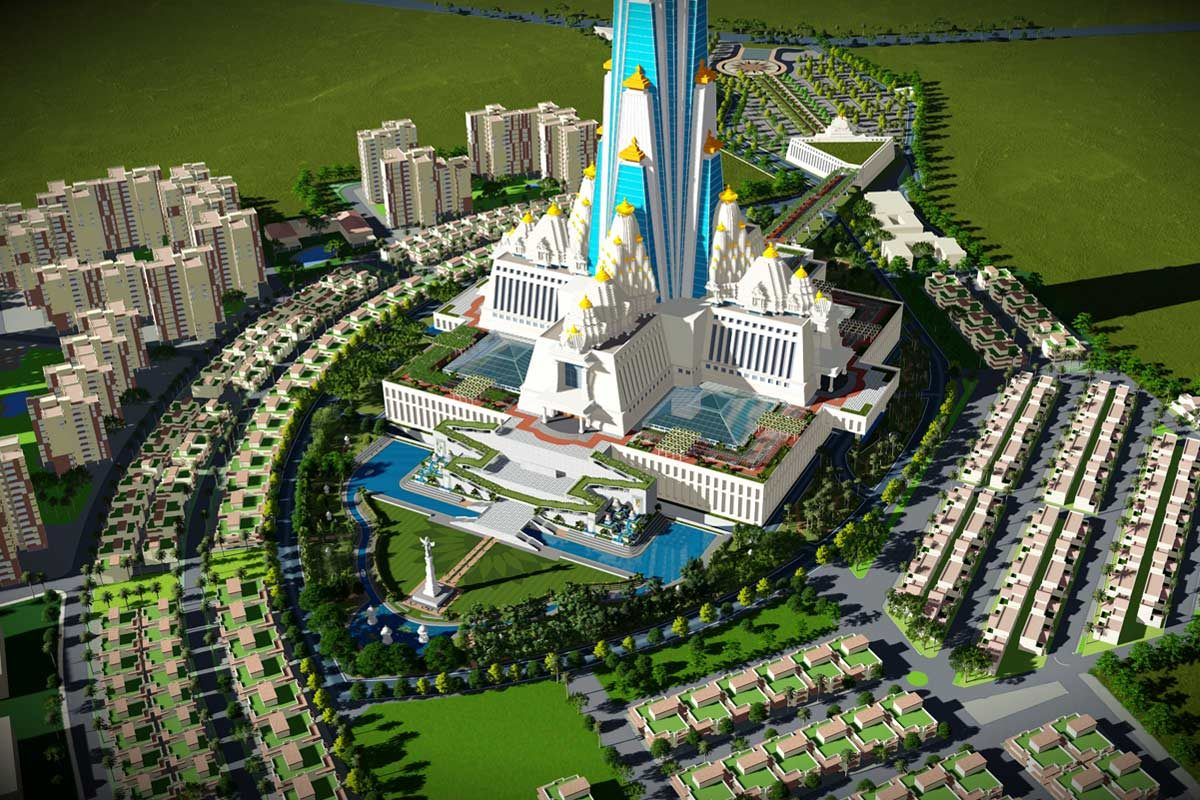 Grand temple, theme park and residential complex